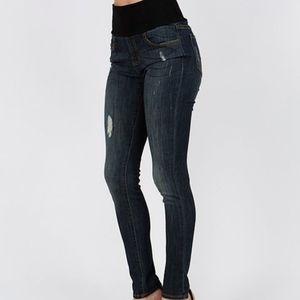M. Rena distressed skinny jeans